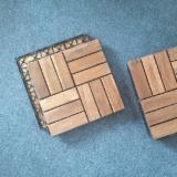 Garden Patio Deck Tiles/ Interlocking Plastic Base Outdoor Acacia Flooring