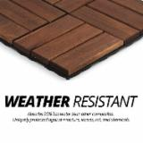 Hardwood Acacia Interlocking Deck Tiles/ Vietnam DIY Flooring Tiles