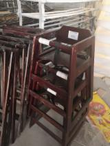 Chaises hautes en bois massif - pin, hêtre, bouleau, peuplier