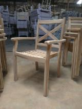 Asia Garden Furniture - Outdoor Wooden Stacking Dining Chair
