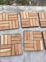 Waterproof Interlocking Decking (Teak+Acacia), 19 mm