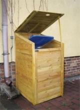 Porta bidoni per esterno in legno impregnato