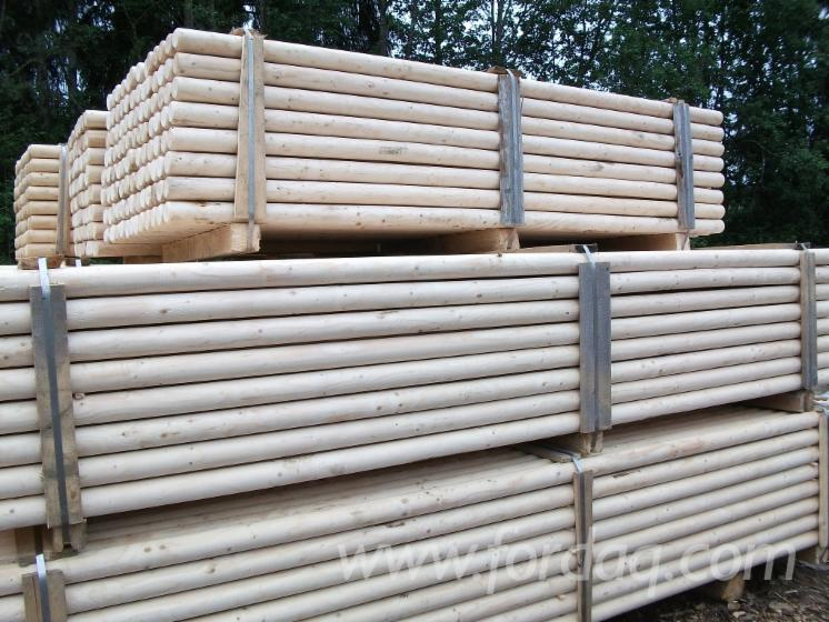 Machine-Rounded-Spruce-Poles