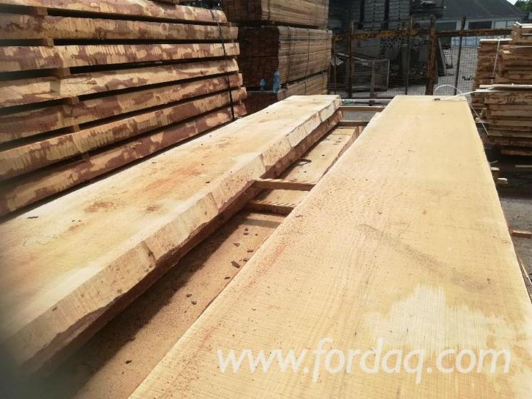 Unedged-Fresh-Siberian-Larch-Timber