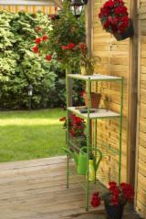 Wood+Metal Garden Shelf