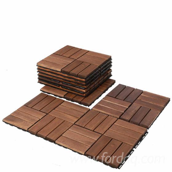 Deck Tile for Courtyard/ Patio Flooring/ Interlocking Wood Deck Tiles for Outdoor Porch