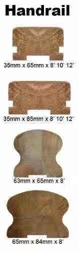 Hobelware - Profilbretter Gesuche - Massivholz, Meranti, Dark Red , Geländer, Balustrade