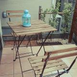 FSC Bistro Garden Set - 1 Table & 2 Chairs (Acacia+Metal)