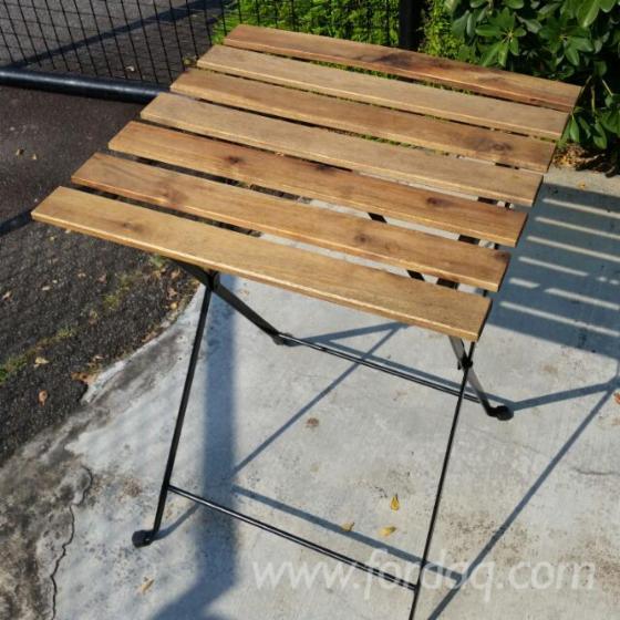 FSC Bistro Garden Set - 1 Table & 2 Chairs (Acacia+Metal)