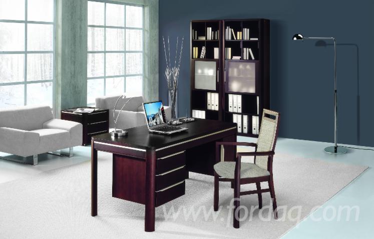 Vend ensemble de meubles pour bureau traditionnel feuillus