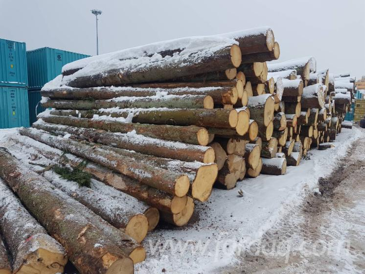 Scots Pine and Spruce 12-19cm / 20+ ave 26cm ABC Saw Logs from Lithuania / Poland
