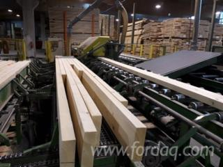 Solid finger jointed constructional timber line KVH