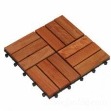 Eucalyptus Garden Wooden Tiles, 300 x 300 x 24 mm