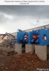 Latvia Woodworking Machinery - Debarking line CAMBIO 45 AIR TEN