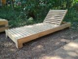 Natural Wood Garden Furniture - Outdoor Folding Teak Sun Lounger