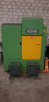 Boiler Systems With Furnaces For Pellets - Boiler HDG Compact 80KW with feeding system for pellets wood chips saw dust
