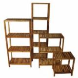 Kitchen Storage Kitchen Furniture - Eucalyptus/ Teak Tier Shelf System