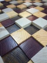 Find best timber supplies on Fordaq - Wall wood 3D panel - Funk Blues