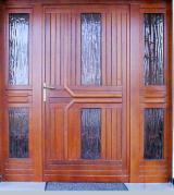 null - Asiatisches Laubholz, Fenster, Massivholz Mit Anderen Endprodukten, Meranti, Dark Red , Echtholzfurnier