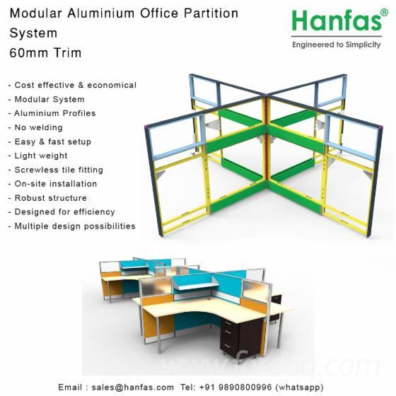 Tile Base Modular Alu. Partition System for Turnkey Solution Provider