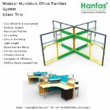 Asia Office Furniture And Home Office Furniture - Tile Base Modular Alu. Partition System for Turnkey Solution Provider