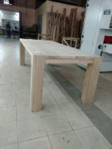 Tables and tabletops from solid oak