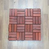 Natural Hardwood Deck Tiles/ Non-slip Outdoor Floor Tiles