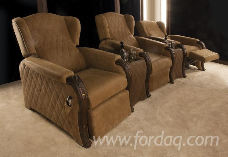 Furniture for Home Cinema Area, Renaissance and Humanist Design