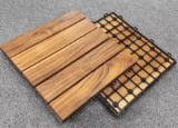 Poolside Solid Teak Deck Tiles for Outdoor Space