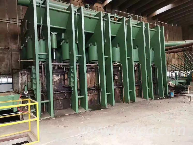Used Germany Particle board line single layer hotpress