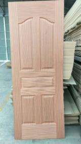 Sapele Veneer Faced HDF Door Skin Panels