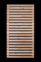 Siberian Larch Garden Products - rhombus louveres fence, natural finish