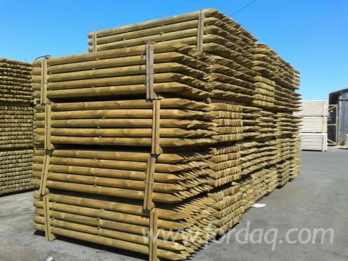 Pine Poles Diam.10, 12 cm.