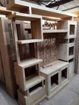 Living Room Furniture - Solid wood display cabinets