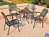 outdoor metal tables and chairs bistro patio sets
