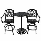 customizable design cast aluminum bar tables and chairs bistro furniture