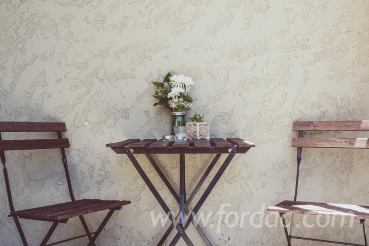 Acacia Solid Hardwood Table and Chair Garden Furniture Bistro Set/ Vietnam outdoor furniture