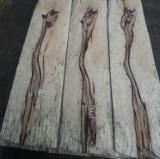 天然木皮单板, 平切,华纹