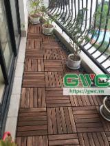 Vintage Patio Deck Tiles/ Vietnam Eco-friendly Wood Deck Tiles