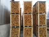 劈切薪材 – 未劈切 未开裂的薪材/未开裂原木 常见黑色阿尔德木, 桦木, 橡木