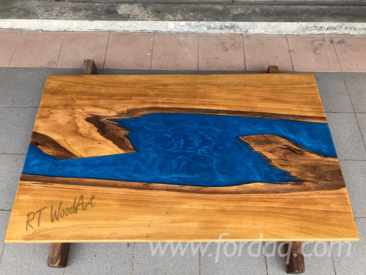 Chengal Epoxy River TableTop/Dining Table