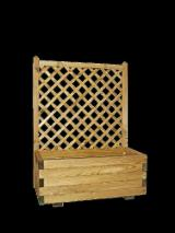 Pine - Scots Pine Garden Products - BASIC, planter with trellis, Pressure impregnated, green