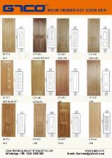 Wood Veneer Moulded HDF Door Skin Panels