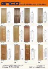 Wood Components, Mouldings, Doors & Windows, Houses For Sale - Wood veneer Moulded HDF Door Skin Panels