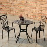 Garden Furniture - Cast aluminum patio dining set outdoor metal furniture