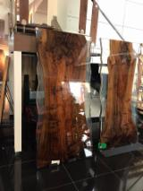 Find best timber supplies on Fordaq - Dongguan Seeland Wood Limited - Black walnut table top with epoxy fill in