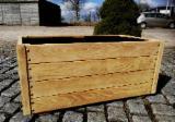 Donice drewniane Drewno robinia akacjowa Masywne drewniane skrzynie