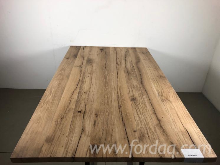 Vend Table De Salle À Manger Rustique/Campagne Feuillus Européens Chêne