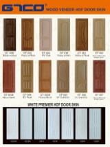 Modern design door panel with natural wood veneer
