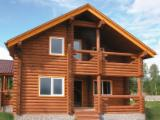 B2B Log Homes For Sale - Buy And Sell Log Houses On Fordaq - Sets of Log Houses, Spruce or Pine lathe turned logs